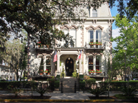 Hamilton-Turner Inn (circa 1873) in Savannah GA.