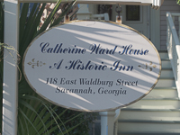 Catherine Ward House Inn (circa 1886) in Savannah GA.