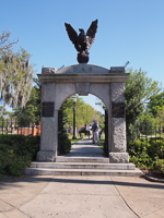 Entrance to Colonial Park Cemetery in Savannah GA.