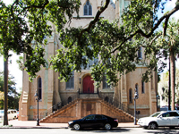 Wesley Monumental Church in Savannah GA.