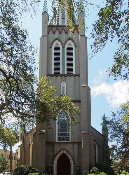 Fun things to do in Savannah : Saint John's Episcopal Church in Savannah GA.