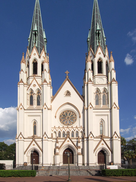 Fun things to do in Savannah : Cathedral of St. John the Baptist in Savannah GA.
