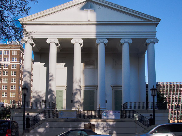 Fun things to do in Savannah : Christ Church in Savannah GA.