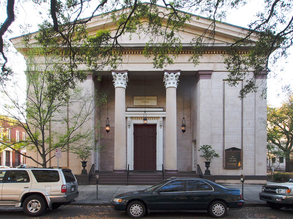 Fun things to do in Savannah : Trinity United Methodist Church in Savannah GA.