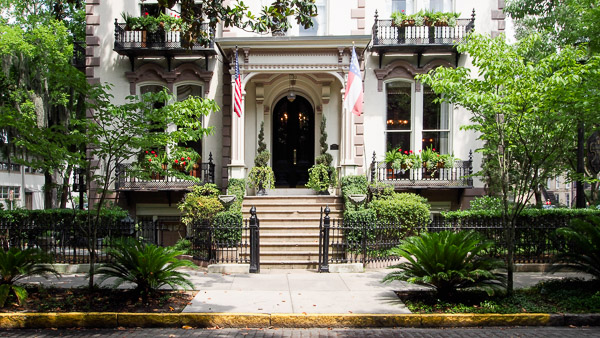 Fun things to do in Savannah : Hamilton-Turner Inn (circa 1873) in Savannah GA.