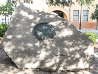 Tomo-Chi-Chi Monument in Wright Square in Savannah GA.