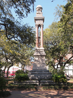 Gordon Monument in Wright Square in Savannah GA.