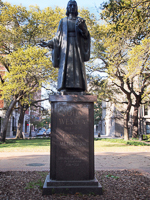 John Wesley Monument in Savannah GA.