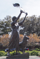 Waving Girl Statue in Savannah GA.