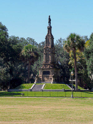 Fun things to do in Savannah : Confederate Monument in Forsyth Park in Savannah, GA.