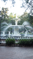 Forsyth Park Fountain in Savannah GA.