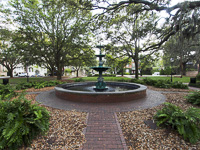 Fountain in Lafayette Square in Savannah GA.