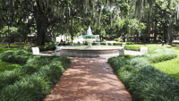 German Societies Fountain in Orleans Square in Savannah GA.