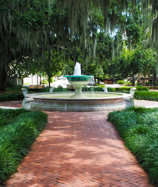 Fun things to do in Savannah : Orleans Square in Savannah, GA.