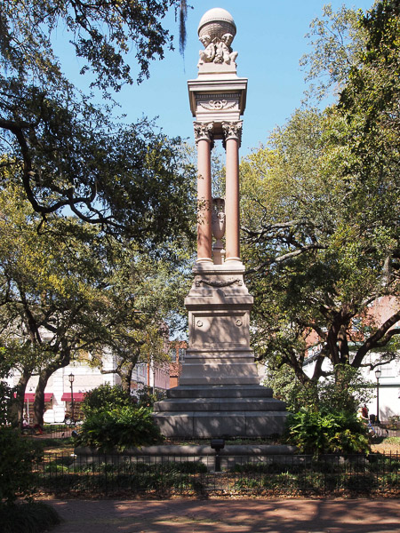 Fun things to do in Savannah : Gordon Monument in Savannah GA.