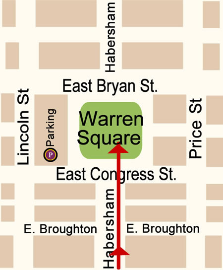 Fun things to do in Savannah : Warren Square Map Day 2.