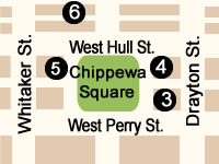 Chippewa Square Map.