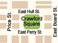 Crawford Square Map  in Savannah GA.