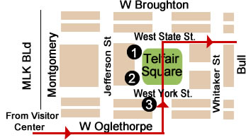 Telfair Square Map Day 2