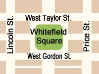 Whitefield Square Map in Savannah GA.