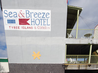 Sea & Breeze Beach Hotel in Tybee Island GA.