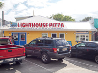Fun things to do in Savannah : Lighthouse Pizza in Tybee Island GA.