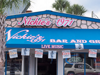 Fun things to do in Savannah : Nickie's in Tybee Island GA.