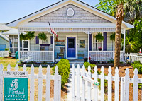 Fun things to do in Savannah : Mermaid Cottages in Tybee Island GA.
